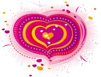 Pink heart for Valentine's Day Royalty Free Stock Images