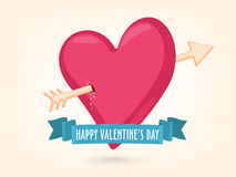Pink heart for Valentine's Day celebration. Royalty Free Stock Photos