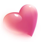 Pink heart for valentine's, isolated Royalty Free Stock Photo