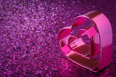 Pink Heart for Valentines Day Royalty Free Stock Images