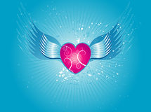 Pink heart, vector Stock Photos