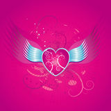 Pink heart, vector  Stock Photo