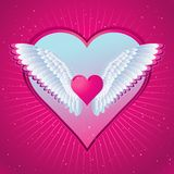 Pink heart, vector Royalty Free Stock Images