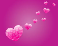 Pink Heart Vector Banner. And Backround Royalty Free Stock Images