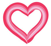 Pink heart on a white background. An image of a nice abstract pink heart on a white background Vector Illustration
