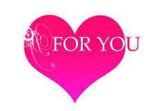 Pink heart for you Royalty Free Stock Photo