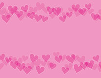 Hearts border background Stock Photos