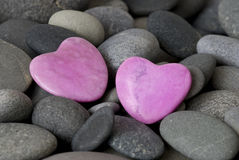 Pink hearts Stock Images