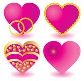 Pink hearts royalty free stock photos