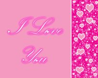 Pink hearts Royalty Free Stock Image