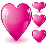Pink hearts Royalty Free Stock Photography
