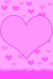 Pink hearts. Illustration with big heart to use for framing words of picture royalty free illustration