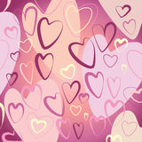 Pink hearts. Vector illustration with pink hearts. backgroud Stock Photos