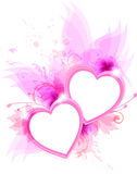 Pink hearts Stock Photography