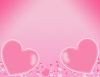 Pink Hearts. Pretty pink glowing hearts frame Royalty Free Stock Image