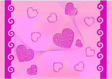 Pink hearts. Illustration on Valentine's Day with hearts Royalty Free Illustration