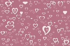 Pink Hearts. A pink heart background, perfect for webpages or scrapbooking Stock Photo