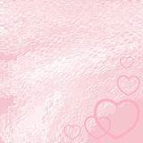 Pink hearts background. Silhouettes of hearts on a pink backgrounds Royalty Free Stock Photos