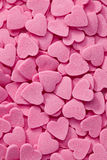 Pink hearts background Stock Photos