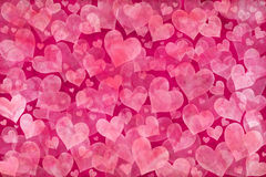 Pink hearts background Royalty Free Stock Images