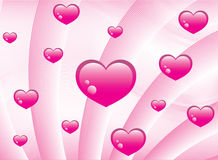Pink hearts background Royalty Free Stock Photos