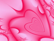 Pink Hearts Background Stock Photography
