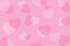 Pink hearts background. Royalty Free Stock Photos
