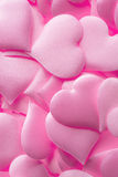 Pink hearts background Stock Image