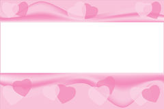 Pink hearts background with copyspace. Royalty Free Stock Image