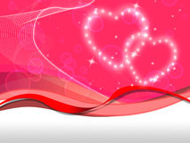 Pink Hearts Background Means Love Special And Valentine Stock Photos
