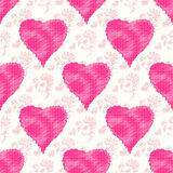 Pink hearts on a beautiful gentle background seamless pattern vector illustration Stock Image