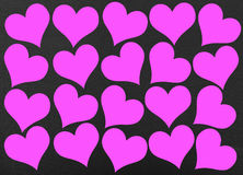Pink hearts Stock Photo