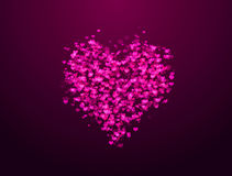 Pink hearts bokeh Royalty Free Stock Photo