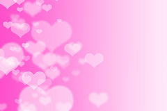 Pink hearts bokeh as background royalty free illustration