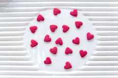 Pink hearts candy Stock Image