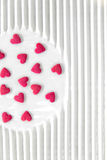 Pink hearts candy Stock Photos