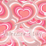 Pink hearts card, Stock Images