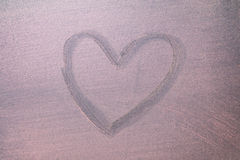 Pink hearts on chalkboard background. Royalty Free Stock Photography
