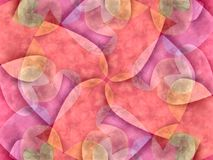 Pink Hearts Collage Pattern Stock Photos