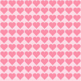 Pink hearts cross-stitch Stock Image