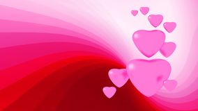 Pink hearts. Cute pink hearts on read background Royalty Free Stock Images