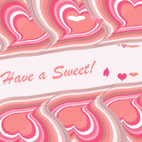 Pink hearts diagonally Royalty Free Stock Photos