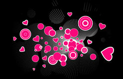 Pink hearts explosion Royalty Free Stock Photography