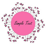 Pink hearts and flowers symbol background Royalty Free Stock Image