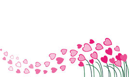 Pink hearts flying in the wind Royalty Free Stock Photo