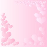 Pink hearts frame Stock Photo