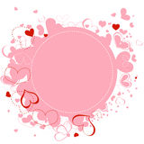 Pink hearts frame Stock Photos