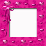 Pink hearts frame Royalty Free Stock Images