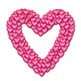 Pink hearts illustration Royalty Free Stock Photography