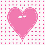 Pink hearts with large one in the middle Stock Image